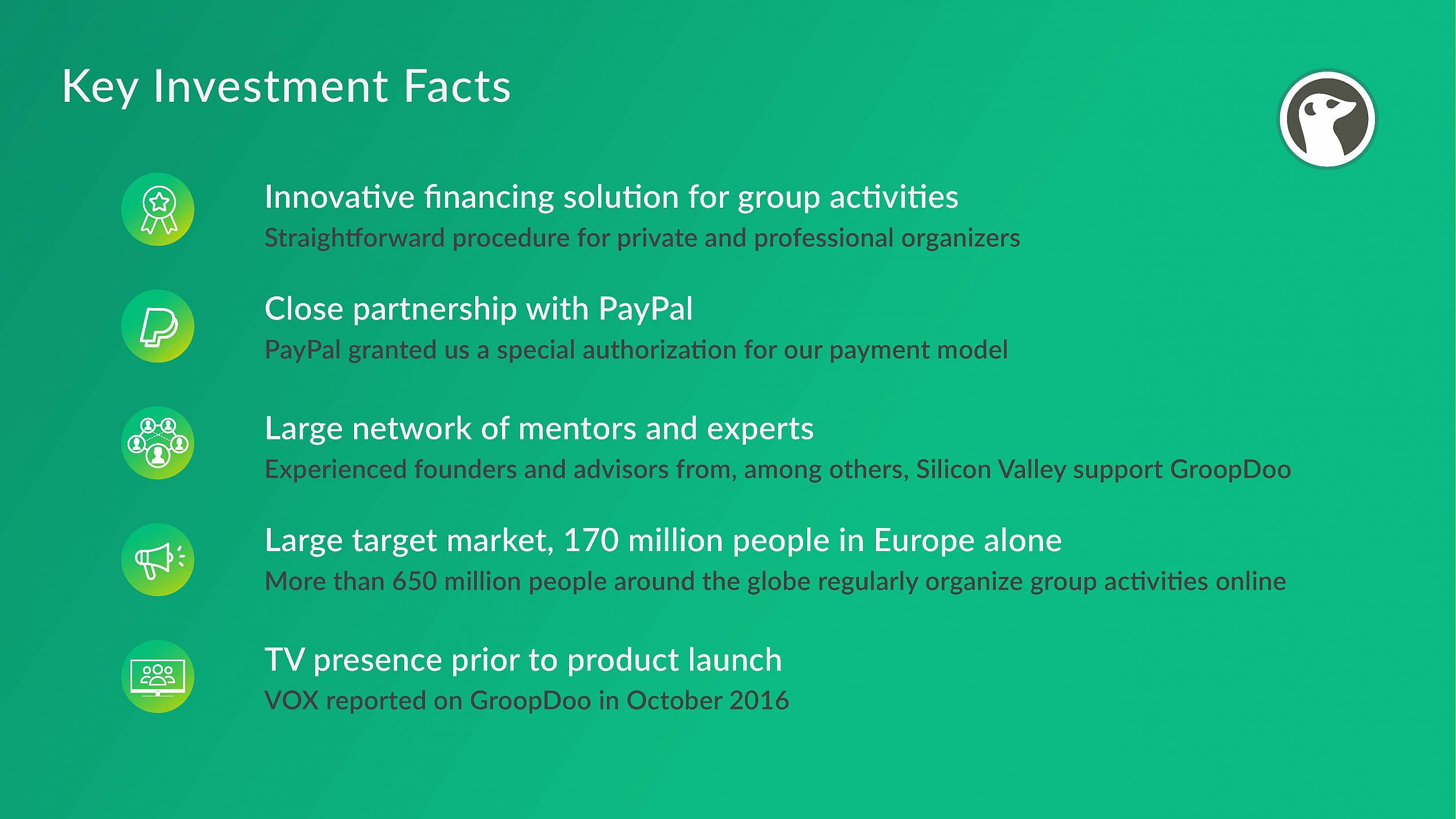 GroopDoo - Key Investment Facts