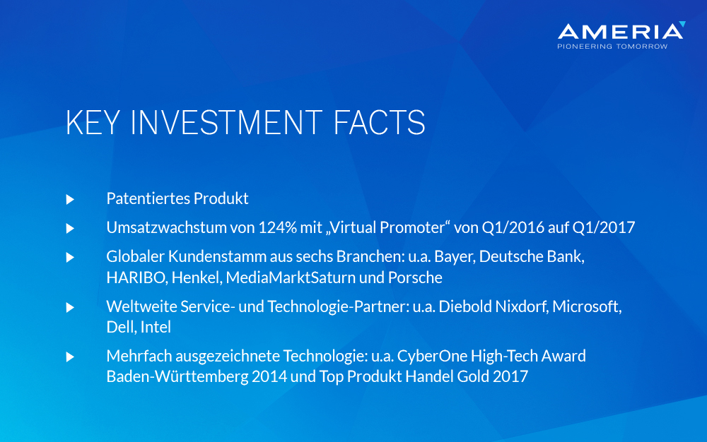 AMERIA - Key Investment Facts