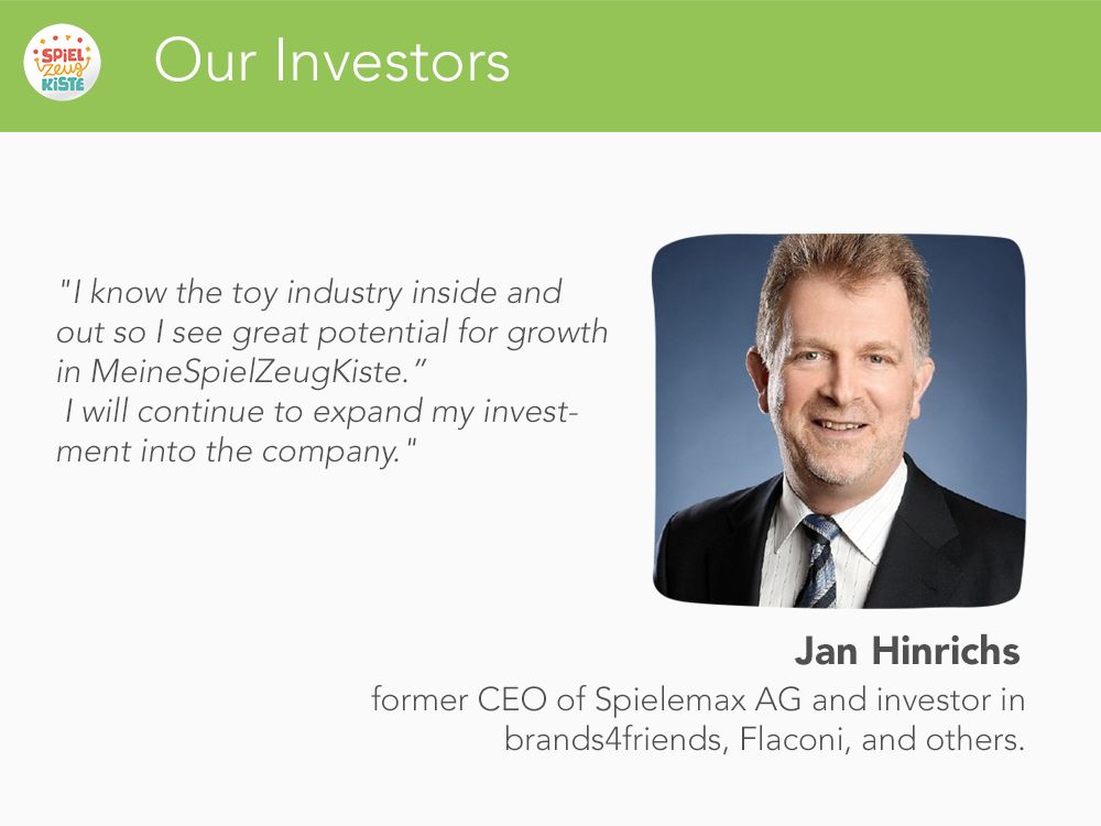 Our Investors - Jan Hinrichs