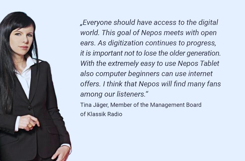 Tina Jäger, Member of the Management Board of Klassik Radio about Nepos
