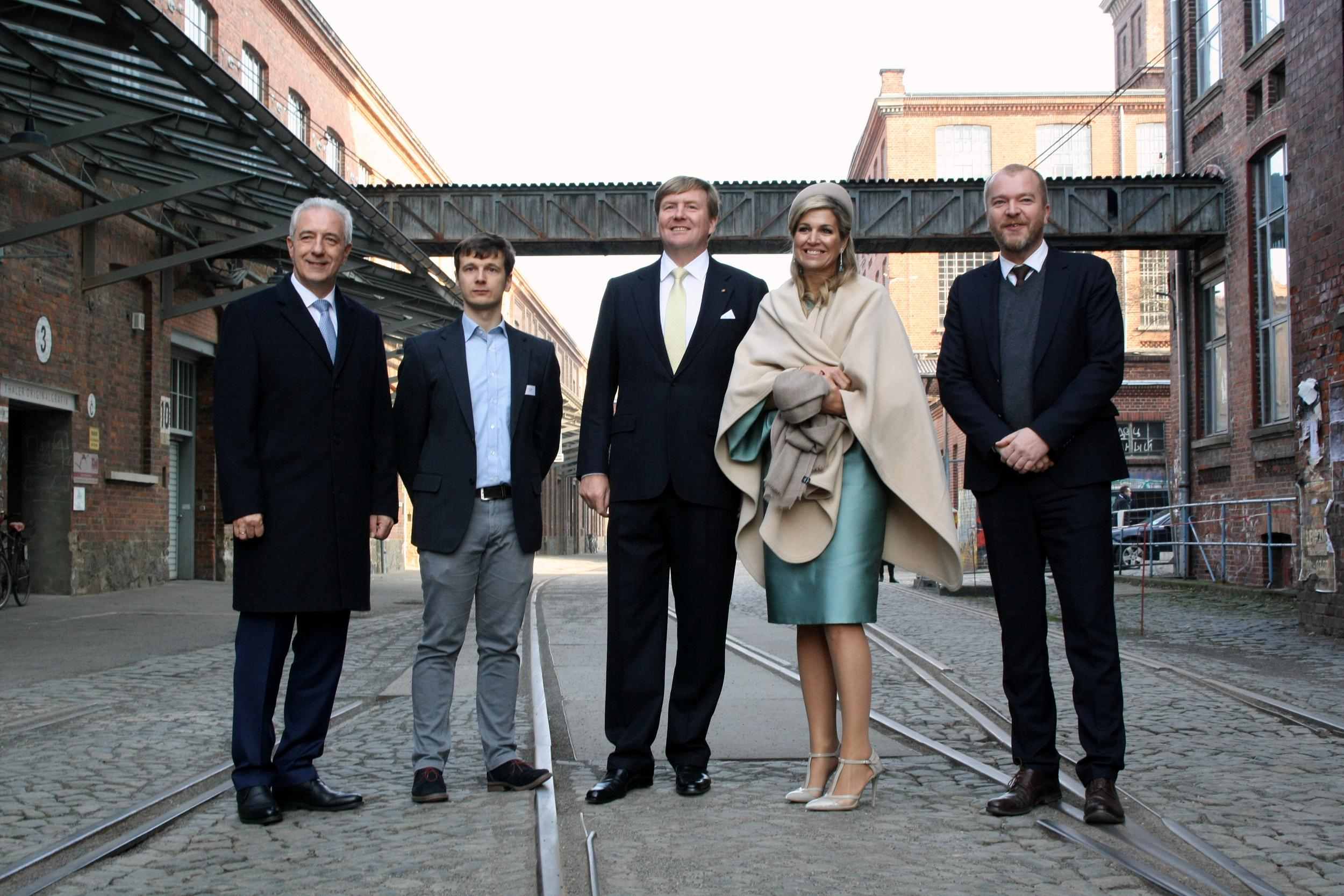 King Willem-Alexander, his wife Queen Máxima as well as their accompanying delegation from the Netherlands