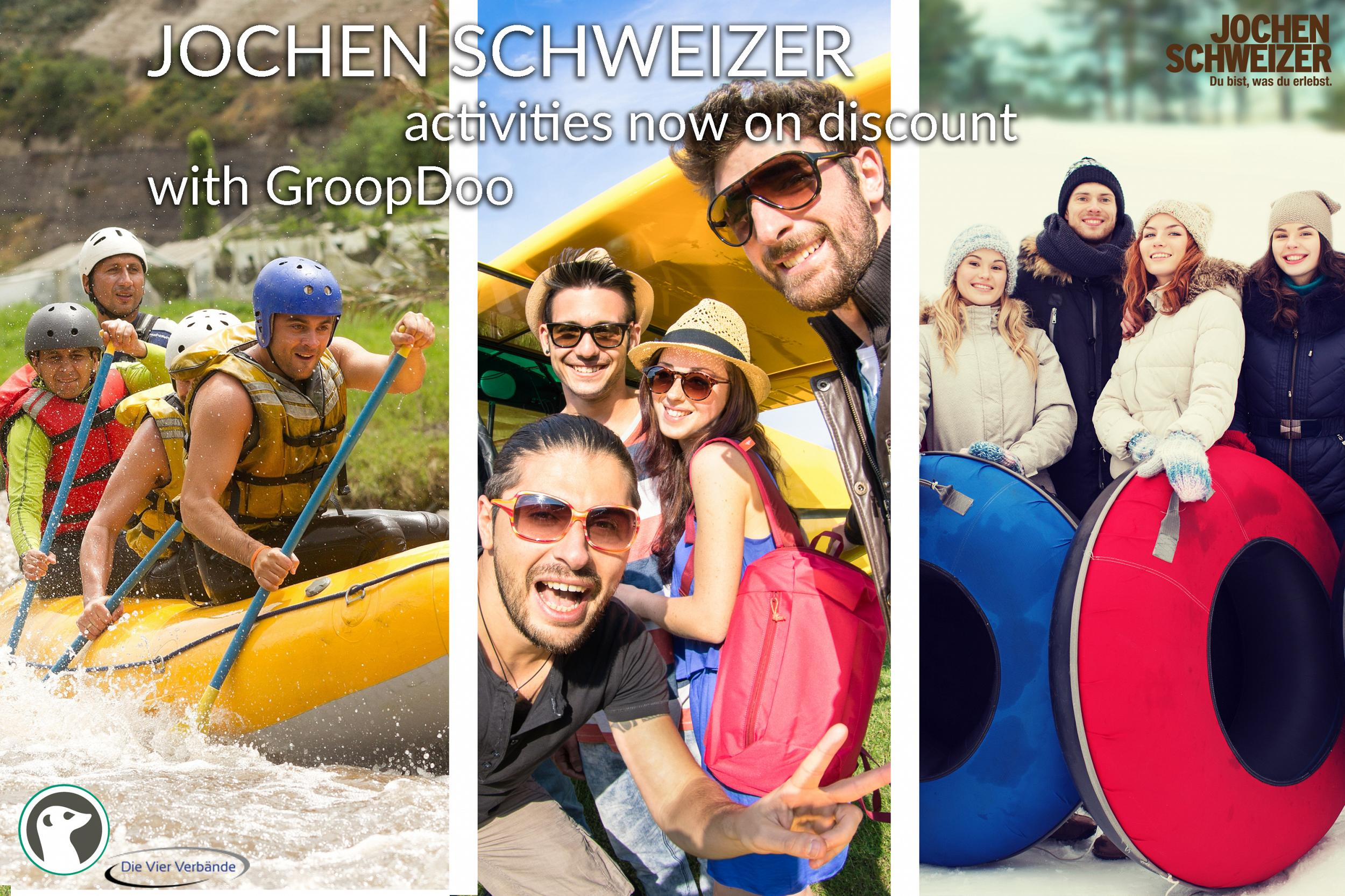 Jochen Schweizer activities now on discount with GroopDoo