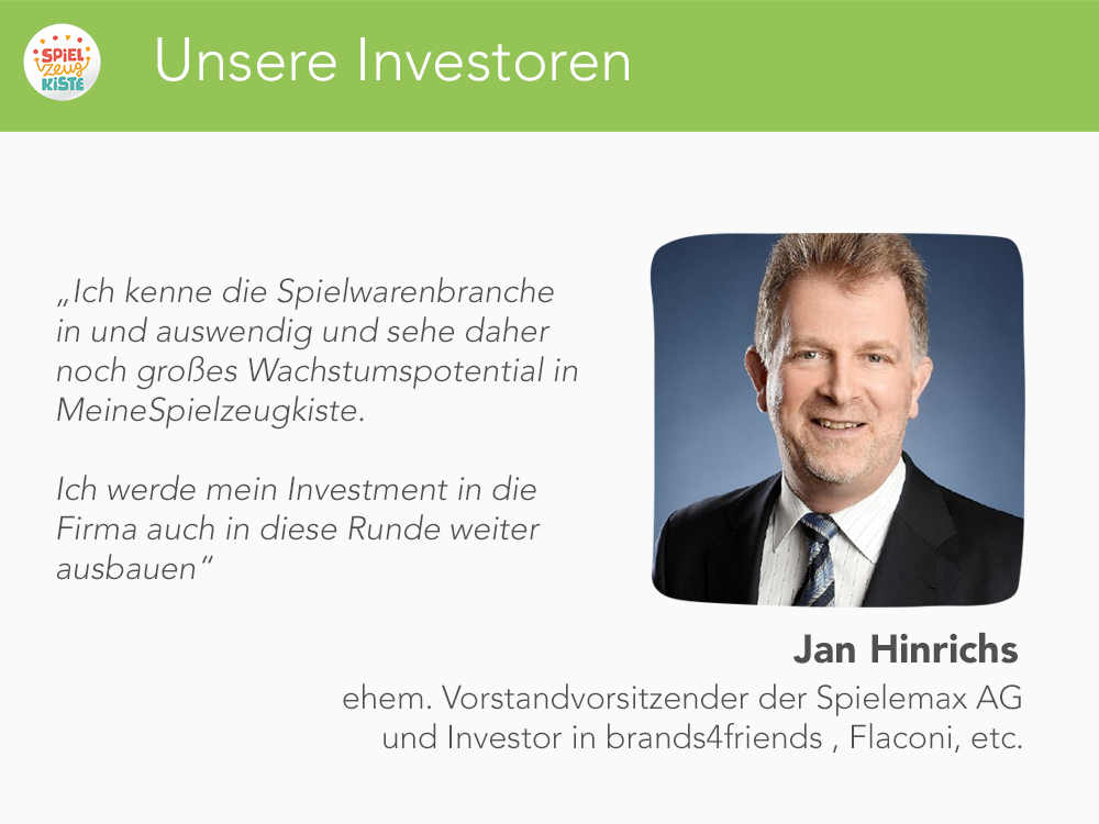 Unsere Investoren - Jan Hinrichs