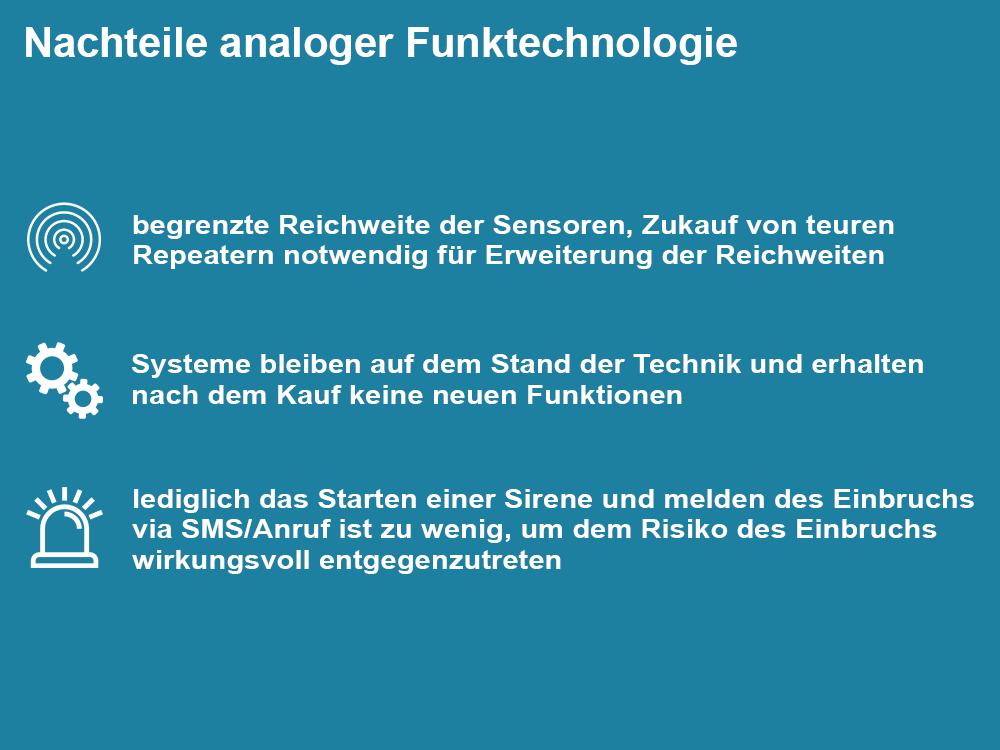 Nachteile analoger Funktechnologie