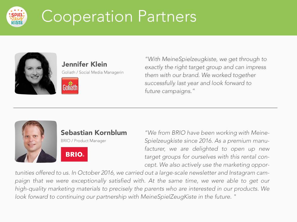 Cooperation Partners MeineSpielzeugkiste