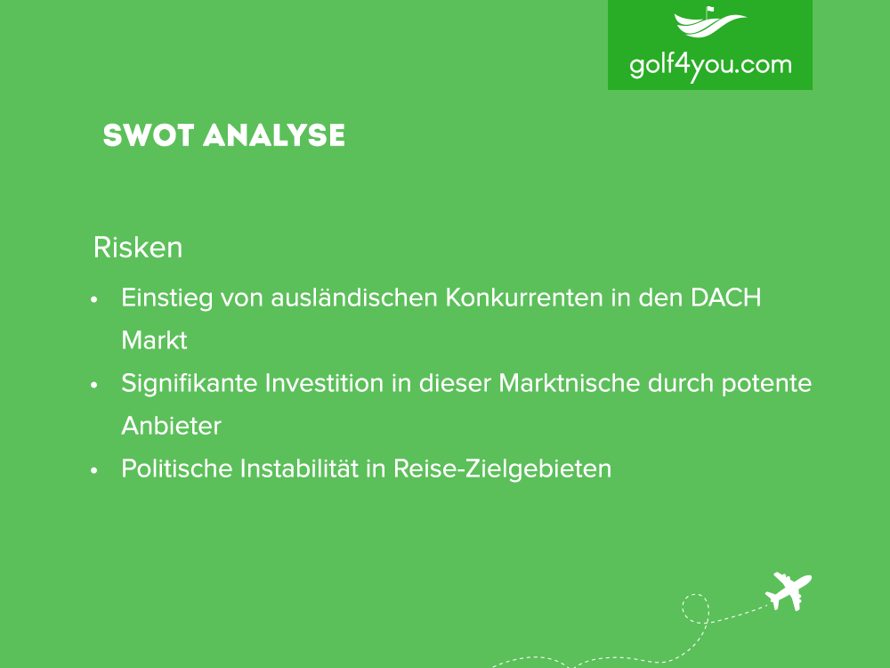 golf4you - SWOT Analyse Risiken