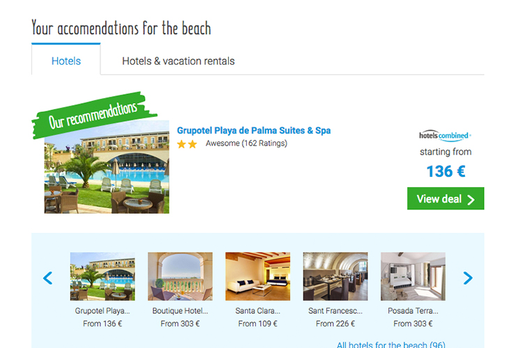 The old travel and hotel module on Beach-Inspector