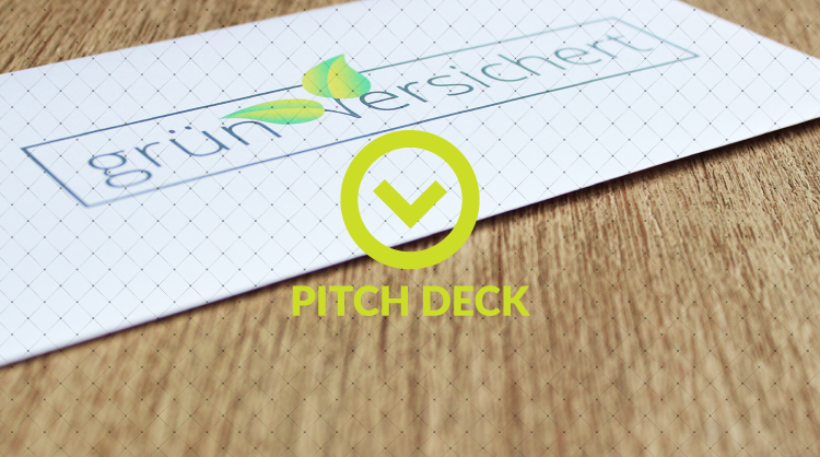 Pitch Deck of grün versichert