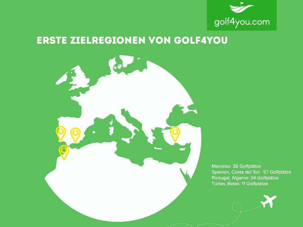 golf4you - Zielregionen