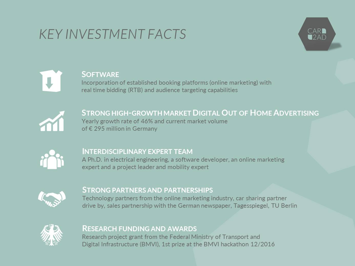 CAR2AD - Key Investment Facts