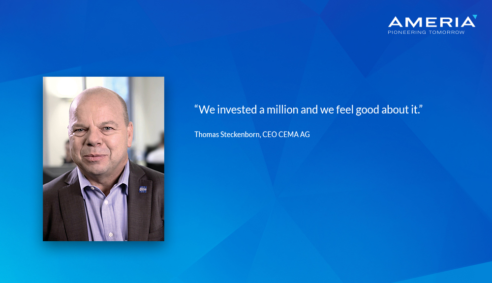 Quote of Thomas Steckenborn - CEO CEMA AG