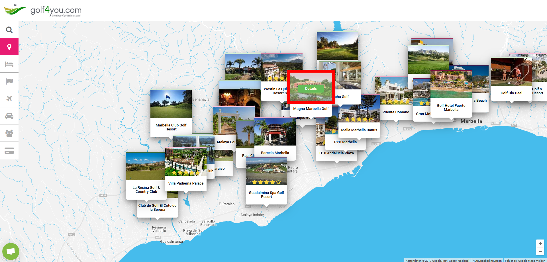 golf4you Standorte
