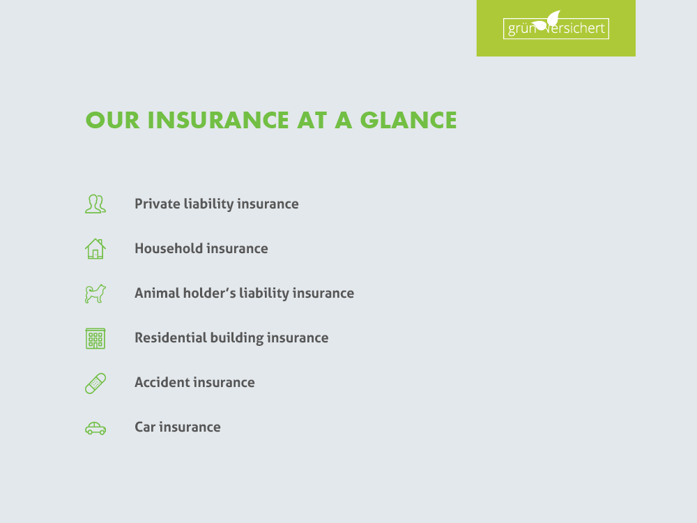 Our insurance at a glance