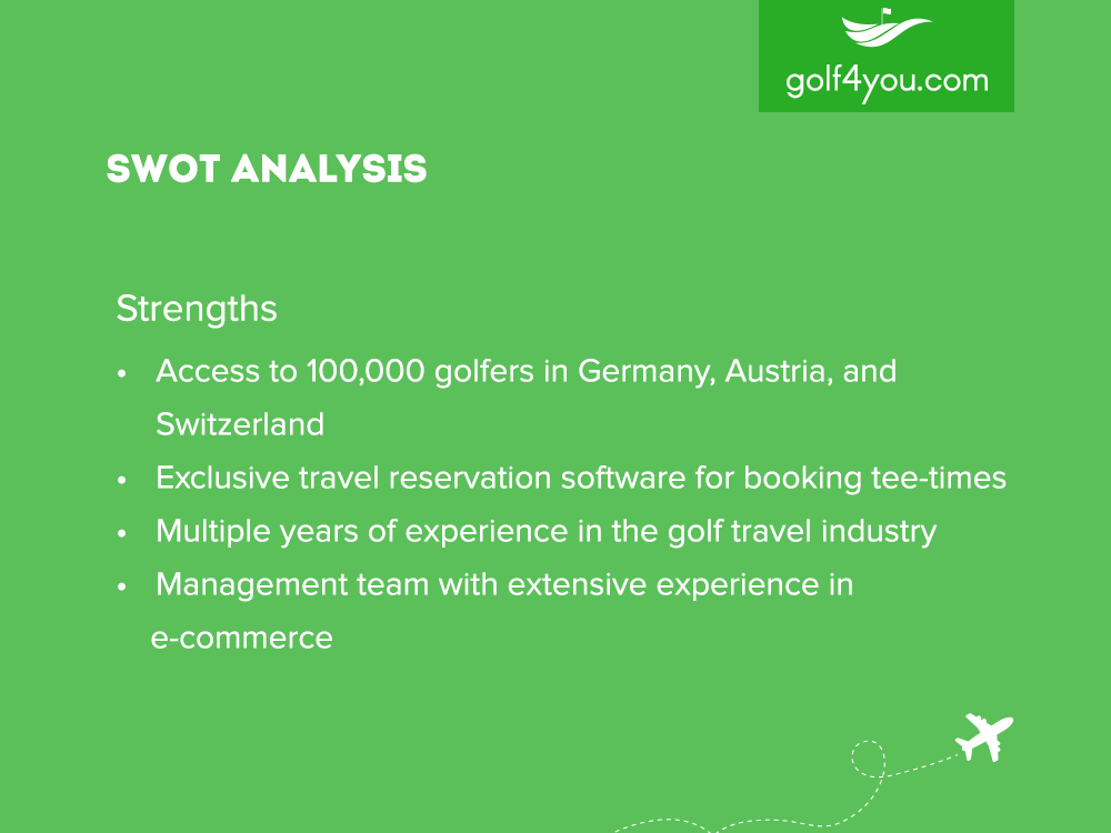golf4you - SWOT Analysis Strengths