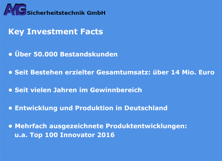 AMG Sicherheitstechnik - Key Investment Facts