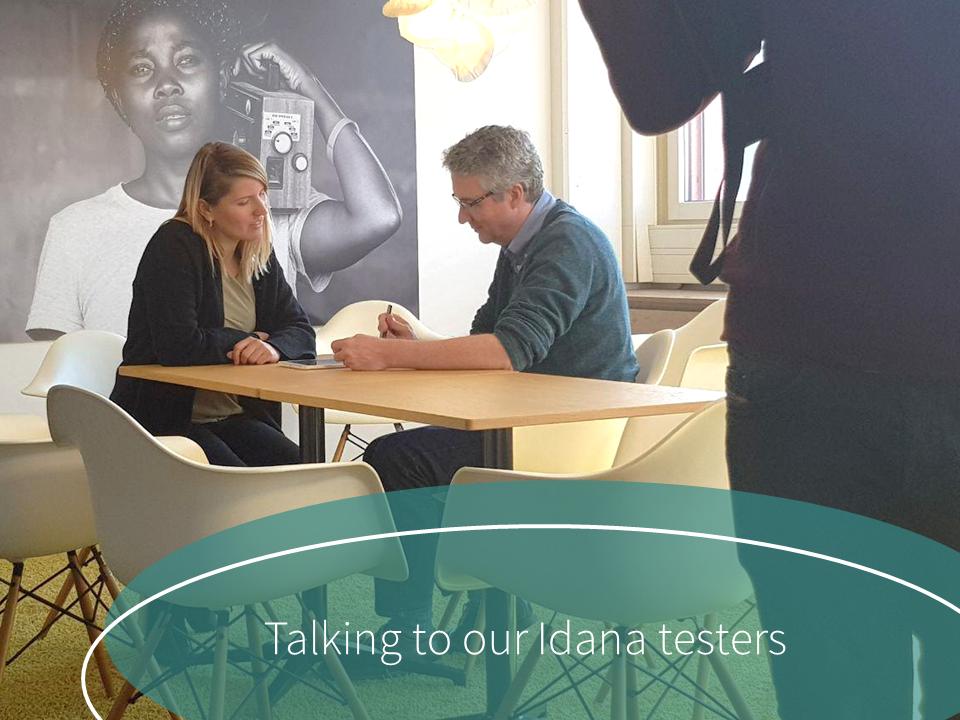 Idana interviews test patients