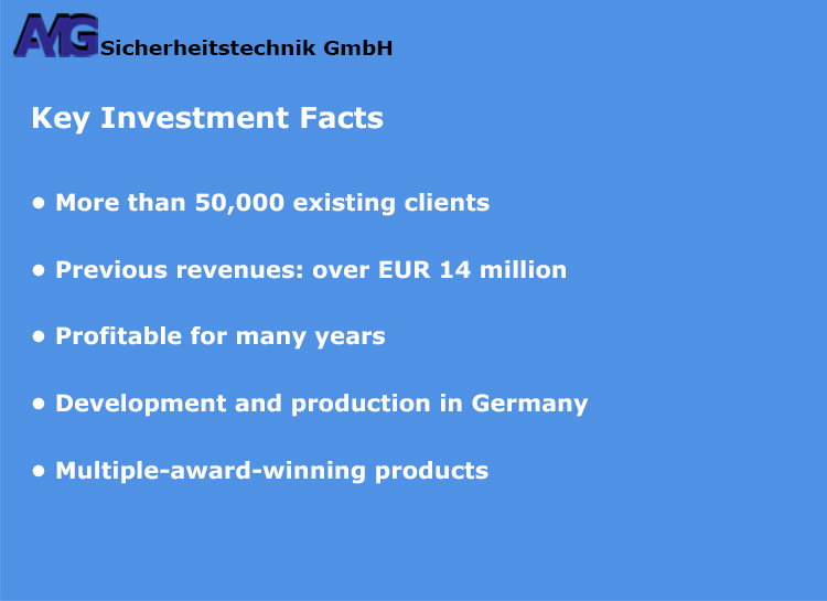 AMG Sicherheitstechnik - Key Investment Facts