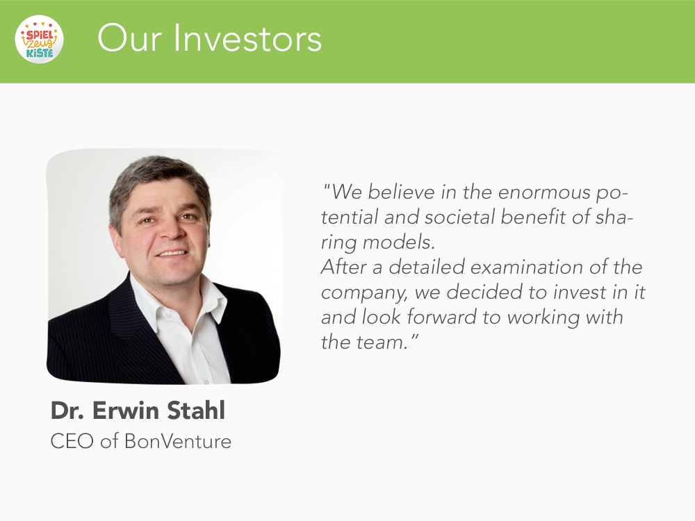 Our Investors - Erwin Stahl
