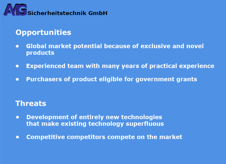 AMG Sicherheitstechnik - Opportunities and Threats