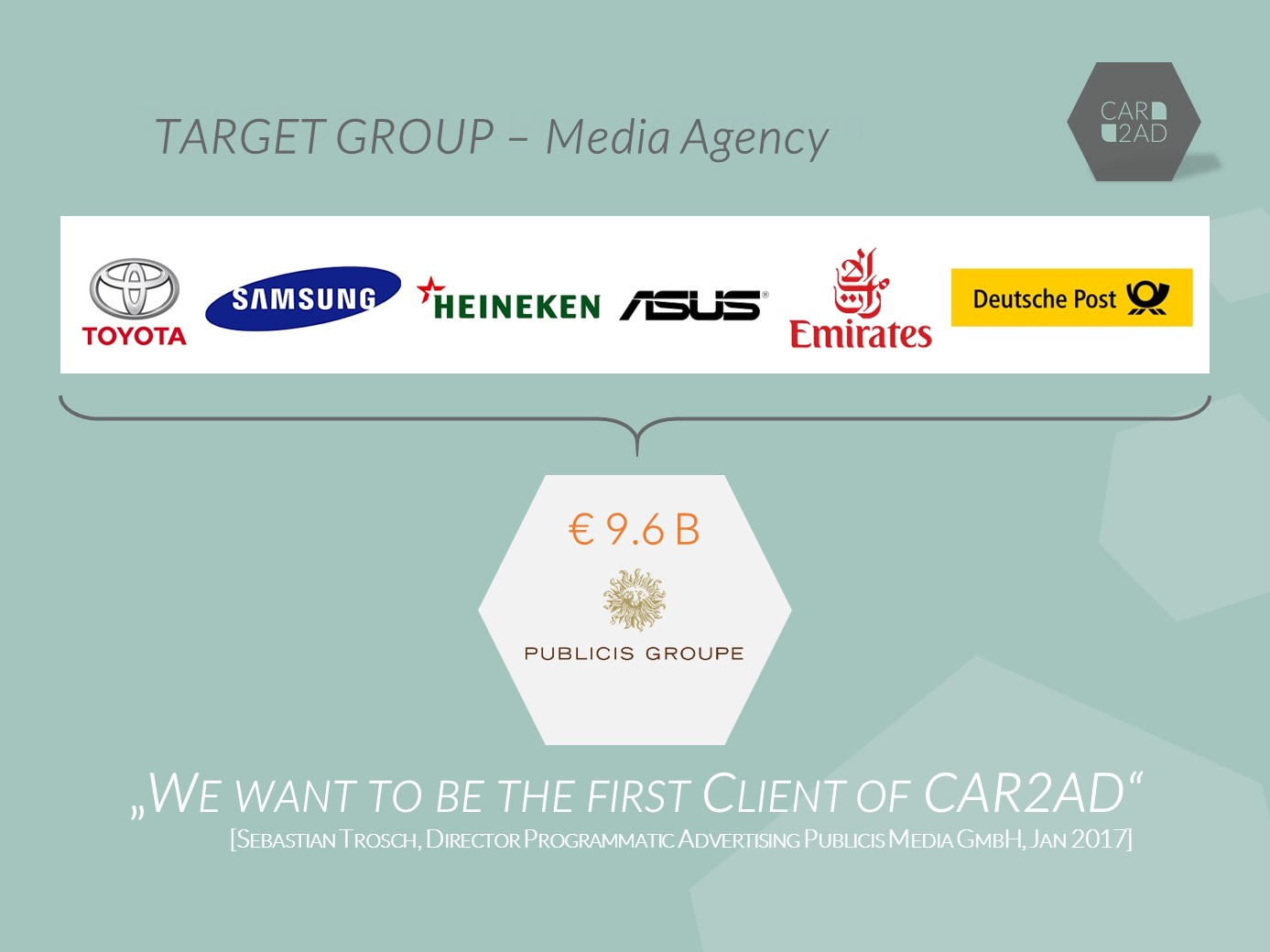 CAR2AD - Target Group