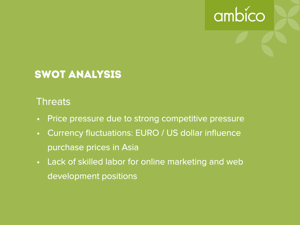 ambico - SWOT Analysis Threats