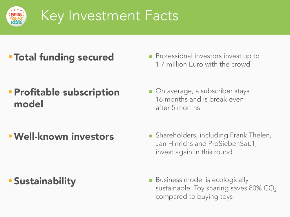 Key Investments Facts - MeineSpielzeugkiste
