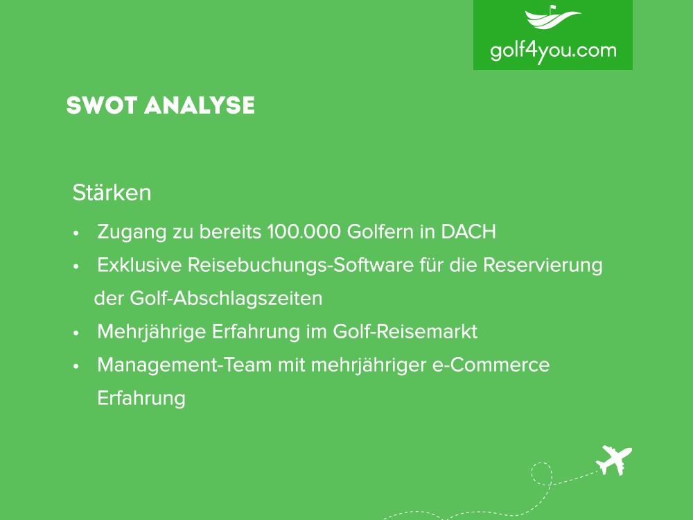 golf4you - SWOT Analyse Stärken