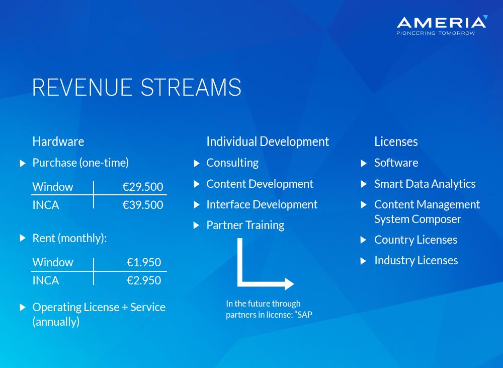 AMERIA - Revenue streams