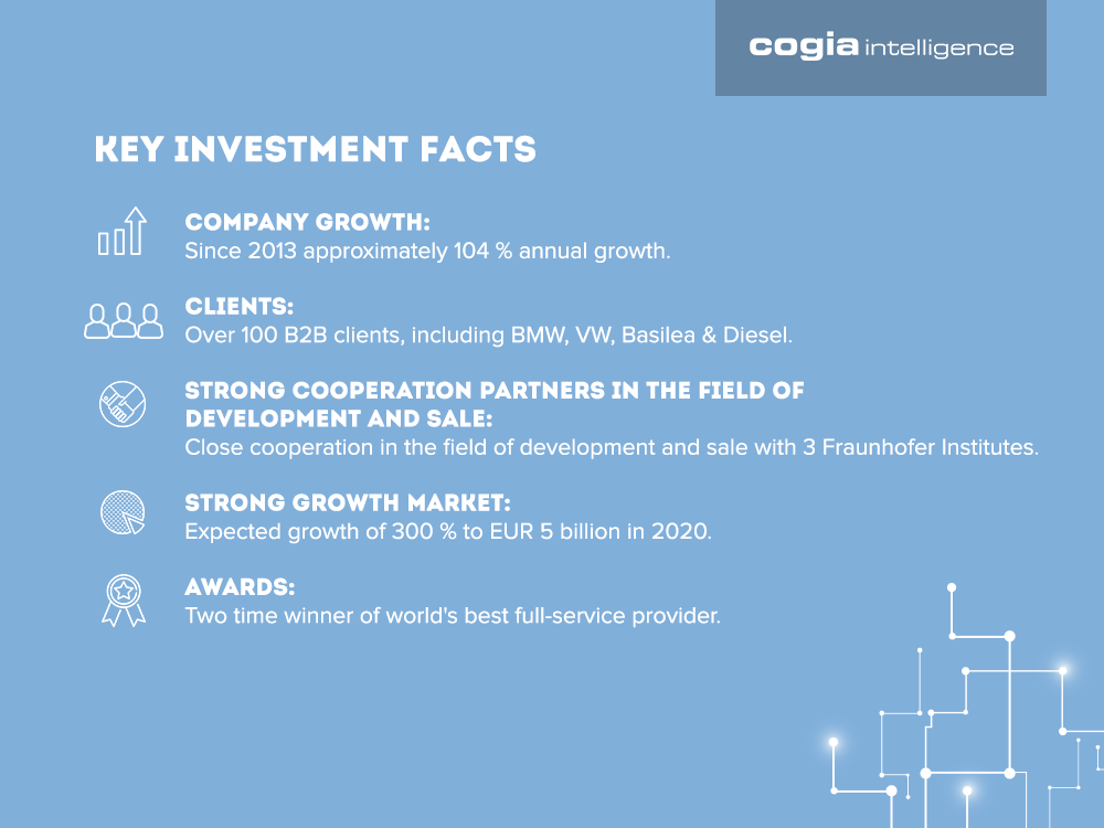 Cogia Key Investment Facts