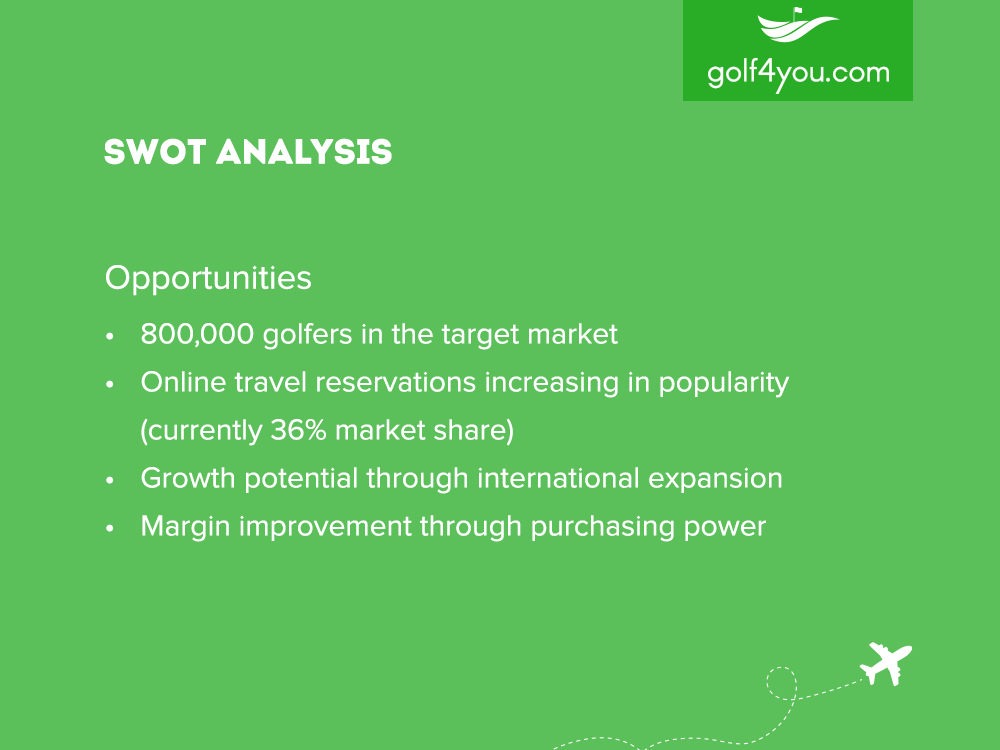 golf4you - SWOT Analysis Opportunities
